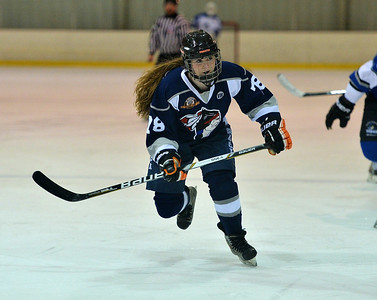 Madison Dwyer focuses on the puck.