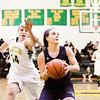 Providence sophomore Cheyenne Brooks drives to the basket off of a steal during the Pioneers' game at Floyd Central on Thursday. Staff photo by Christopher Fryer