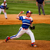 Silver Creek's Logan Murphy pitches during the Dragons' home game against Borden in Sellersburg on Tuesday. Staff photo by Christopher Fryer