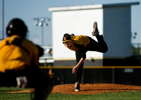 Clarksville's Alex Spencer pitches during the Generals' 9-4 loss to Charlestown at home Thursday. Staff photo by Christopher Fryer