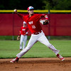 Jeffersonville's Michael Minton moves to throw to first during the Red Devils' home game against Silver Creek on Wednesday. Staff photo by Christopher Fryer