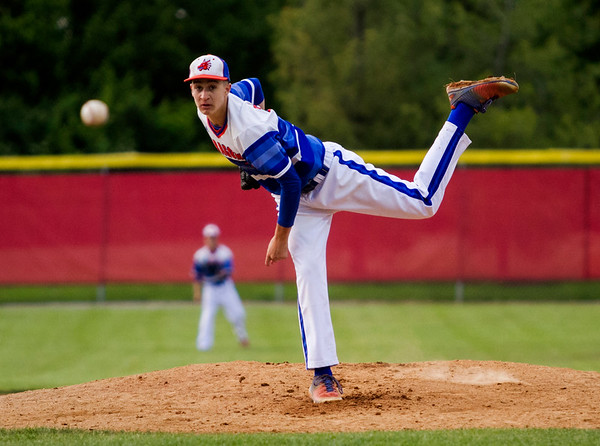 Silver Creek's Sammy Barnett pitches during the Dragons' game at Jeffersonville on Wednesday. Staff photo by Christopher Fryer