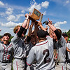 New Albany celebrates following the Bulldogs' 1-0 win over Jeffersonville in the championship round of the Floyd Central Sectional on Monday in Floyds Knobs. Staff photo by Christopher Fryer