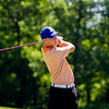 Silver Creek junior Jacob Balz hits from the ninth tee during the Providence Sectional at Covered Bridge Golf Club in Sellersburg on Monday. Staff photo by Christopher Fryer
