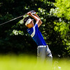 Christian Academy of Indiana sophomore Kevin Wang hits from 16th tee during the Providence Sectional at Covered Bridge Golf Club in Sellersburg on Monday. Staff photo by Christopher Fryer