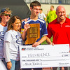 "Providence's Nick Berry receives the ""Mental Attitude Award"" in Boys Soccer, A, which came along with a scholorship grant of $1,000 for the high school. Staff Photo By Josh Hicks"