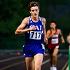Christian Academy of Indiana sophomore Skylar Stidam leads the pack during the 3200-meter run at the Floyd Central Sectional in Floyds Knobs on Thursday. Staff photo by Christopher Fryer