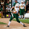 Floyd Central senior Gabbi Jenkins connects for a single during the Highlanders' 1-0 loss to Gibson Southern at the Floyd Central Regional in Floyds Knobs on Tuesday. Staff photo by Christopher Fryer