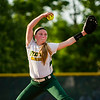 Floyd Central senior Kassie King pitches during the Highlanders' 1-0 loss to Gibson Southern at the Floyd Central Regional in Floyds Knobs on Tuesday. Staff photo by Christopher Fryer