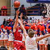 Jeffersonville's Bailey Falkenstein pulls a fadeaway during their game against Silver Creek on Friday. Staff Photo By Josh Hicks