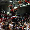New Albany forward Romeo Langford floats over the Jeffersonville defense for a layup during the Bulldogs' 67-56 win over the Red Devils on Friday. Staff photo by Tyler Stewart