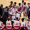 Jeffersonville's Head Coach Joe Luce draws up some diagrams during a time out during the Red Devils' game against Jennings County at Johnson Arena on Saturday. Staff Photo By Josh Hicks
