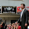 Providence's Head Coach Andrew Grantz motivates the Pioneers during the Pioneers' game against Brownstown Central at the Larkin Center on Saturday. Staff Photo By Josh Hicks