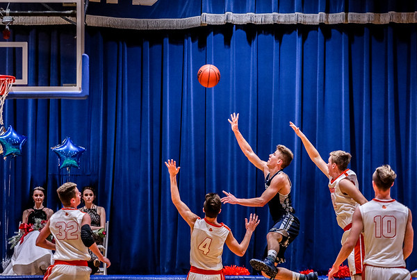 Providence's Juston Betz throws a Hail Mary at the buzzer during the championship game against Silver Creek on Friday. Staff Photo By Josh Hicks