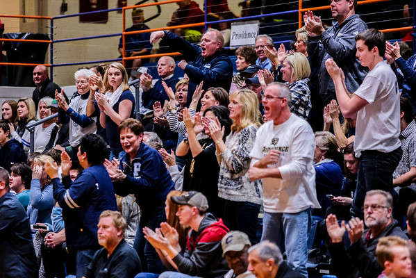The Providence cheering section goes wild in the third quarter of their championship game against Silver Creek on Friday. Staff Photo By Josh Hicks