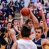 Silver Creek's Jacob Garrett struggles to make a pass as he's surrounded by Providence during their championship game at Silver Creek on Friday. Staff Photo By Josh Hicks