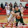 Jeffersonville guard Joe LaGrange draws a foul from Northeastern's Alex Reynolds during the Red Devils' 68-59 win over the Knights in the Ted Throckmorton Tournament. Staff photo by Tyler Stewart