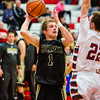 Henryville's Braxton Robertson lines up a shot during round one of the inaugural Ted Throckmorton Memorial Tournament at Jeffersonville High School on Tuesday. The Hornets lost to Danville in double over time. Staff Photo By Josh Hicks