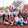 "Jeffersonville High School alumni cheerleaders and mascots pose for a picture before a game on Sept. 15. Front row, left to right- name, class of<br /> Amanda Nelson 2016, McKena Alford 2016, Peyton Pressley 2017, Jade Keith 2017, Shauna Reynolds 1994, Ashly ""Hill"" Lowe 1994.<br /> <br /> 2nd Row, left to right- name, class of<br /> Melissa Grooms Lee 1992, Sandy Kelly Flatt 1977, Tammy Abell Simcoe 1978, Julie Keith Straight 1982, Starla Waldrip McFarland 1982, Theresa Dale Napier 1986, Lisa Apple Whitlow 1988, Pam Fleece Meyer 1988, Peg Curtis Patton 1990<br />  <br /> 3rd Row, left to right- name, class of<br /> Shelonda Moreland Darling 1999, Elizabeth Bohannon Wooden 1999, Kailen Lavon Schutz 1999, Missy Leland Nifong 2000, Nathan Phillips 1989, Mark Sherrill 1990, Lincoln Crum 1988"