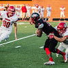 New Albany's Darquan Richardson runs the ball during the Bulldogs' game against Madison on Friday.