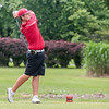 Jeffersonville's Jay WIlliams drives off the second tee during the Hoosier Hill Conference Championship at Elk Run on Saturday. Staff Photo By Josh Hicks