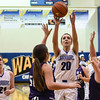 Christian Academy center Kye Jenkins pulls up for a shot over the Lanesville defenders during the Warriors' 48-46 loss to the Eagles on Thursday. Staff photo by Tyler Stewart