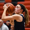 Providence guard Olivia Jenkins looks for an open teammate during the Pioneers' 61-50 loss to the Bulldogs on Friday. Staff photo by Tyler Stewart