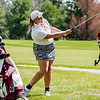 New Albany's Kaylan Hook lobs a ball from the other side of a cart path onto a green during the sectional at Old Capital Golf Course on Saturday.