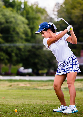 Providence's Alex Henderson tees off at the tenth hole during the sectional at Old Capital Golf Course on Saturday.