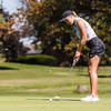 Floyd Central's Francesca Hartlage putts the ball during the Hoosier Hills Conference Championship at Elk Run.