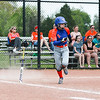 Silver Creek's Jordan Balz heads for first base during the Dragons' New Albany Invitational championship game against New Albany on Saturday. Staff Photo By Josh Hicks
