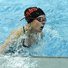 New Albany junior Allison Hickman makes a turn during the 800 yard freestyle relay as part of the New Albany Relays Meet on Tuesday. Staff photo by Tyler Stewart
