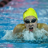 Floyd Central junior Anna Perkins competes in the 200 yard butterfly relay as part of the New Albany Relays Meet on Tuesday. Staff photo by Tyler Stewart