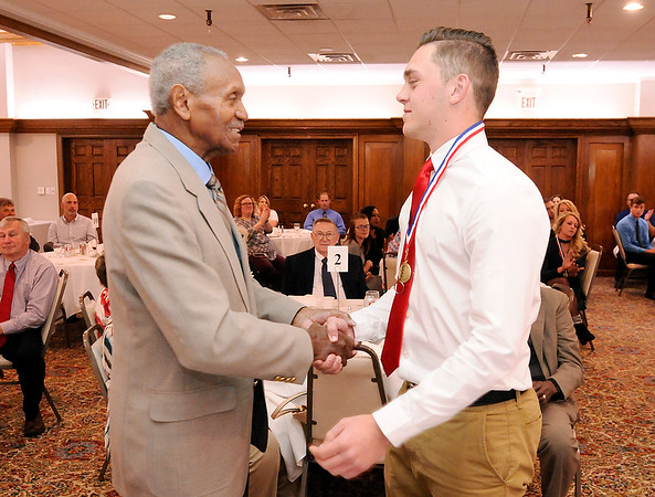 Don Knight   The Herald Bulletin<br /> Johnny Wilson Awards at the Anderson Country Club on Wednesday.