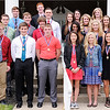 Don Knight | The Herald Bulletin<br /> Three sport athletes nominated for the Johnny Wilson Award at the Anderson Country Club on Wednesday. Front row from left are, Tanner Harvey, Dawson Miller, Landon Diehl, Teresa Lopez, Tracy Harvey, Maddi Evans. Second row from left, Kevin Johnsen, Landon Weins, Peyton Quinn, Monica Watkins and Macey Rudy. Back row from left, Wayde Stiers, Matt Klenke, Levi Frazier, Krystal Watters, Ryann Shively, McKenzie Wilson, Kaitlyn Davis and Sam Hammel.