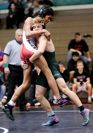 Don Knight    The Herald Bulletin<br /> Madison County Wrestling Tournament at Anderson High School on Saturday.