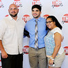 Don Knight | The Herald Bulletin<br /> Boys Athlete of the Year Silas Allred poses for photo with his parents on the red carpet during the THB Sports Awards at the Paramount on Tuesday.