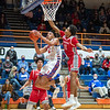 Silver Creek senior Trey Kaufman drive to the basket during the Dragons' 77-67 victory over Jeffersonville on Friday. Photo by Joe Ullrich
