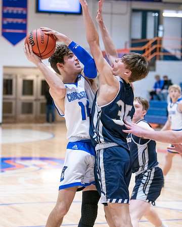 Charlestown senior Kyle Craig puts up a shot during the Pirates' 49-31 loss to Providence in the 60th Annual Holiday tournament consolation game held at Silver Creek on Wednesday. Photo by Joe Ullrich