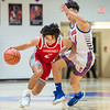 Jeffersonville junior Kobe Stoudemire works the ball up-court against Branden Northern during the Red Devils' 77-67 loss at Silver Creek on Friday. Photo by Joe Ullrich