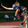 Charlestown's Sadee Goedecker finished eighth in the high jump at the Bloomington North regional championship on Tuesday. Photo by Joe Ullrich