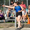 Charlestown's Lanae Crowe finished second in the discus throw at the Bloomington North regional championship on Tuesday. Photo by Joe Ullrich