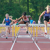 Jeffersonville's Arielle Phillips finished second in the 100-meter hurdles at the Bloomington North regional championship on Tuesday. Photo by Joe Ullrich
