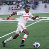 Jeffersonville junior Ronaldo Lawrence advances the ball during the Red Devils' 4-0 loss to Columbus North in their Class 3A New Albany Sectional game on Tuesday. Photo by Joe Ullrich