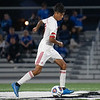 Jeffersonville senior Javi Sanchez Cruz advances the ball during the Red Devils' 4-0 loss to Columbus North in their Class 3A New Albany Sectional game on Tuesday. Photo by Joe Ullrich