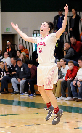 Don Knight | The Herald Bulletin<br /> Frankton's Destyne Knight fires up the crowd as the Eagles faced Tipton in the first round of the regional at Eastern High School on Saturday.