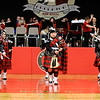 Don Knight |  The Herald Bulletin<br /> The Anderson High School Band's pipe, drums and dancers perform a Scottish Halftime to entertain the crowd as the Indians hosted the Richmond Red Devils on Thursday.