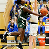 Don Knight | The Herald Bulletin<br /> Pendleton Heights Leonie Wilson drives the baseline as the Arabians faced Mt. Vernon  in the sectional semifinal on Friday.