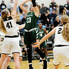 Don Knight | The Herald Bulletin<br /> Pendleton Heights' Megan Mills shoots as the Arabians faced Mt. Vernon in the sectional semifinal on Friday.