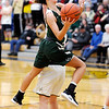Don Knight | The Herald Bulletin<br /> Pendleton Heights Kylie Davis drives to the basket as the Arabians faced Mt. Vernon in the sectional semifinal on Friday.